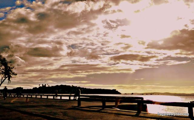Pôr do sol na Praia do Bogari