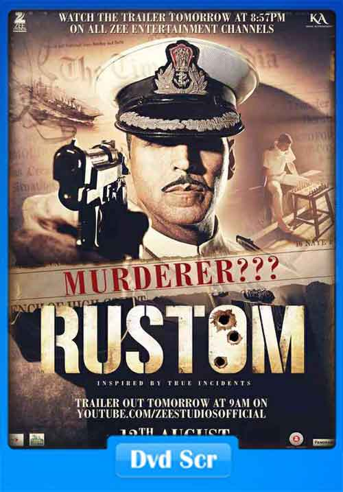 Rustom 2016 Hindi DVDScr 150MB HEVC Poster