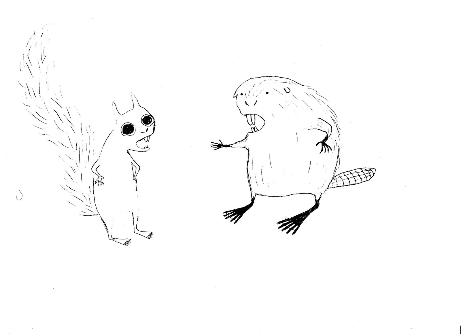 I hate butterflies: beaver and photoshop tests