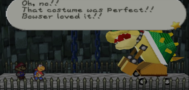 Paper Mario Trojan Bowser boss costume destroyed Koopa Bros.