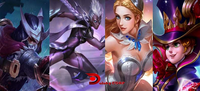 4 Hero Mobile Legends Terkuat bulan Oktober 2017