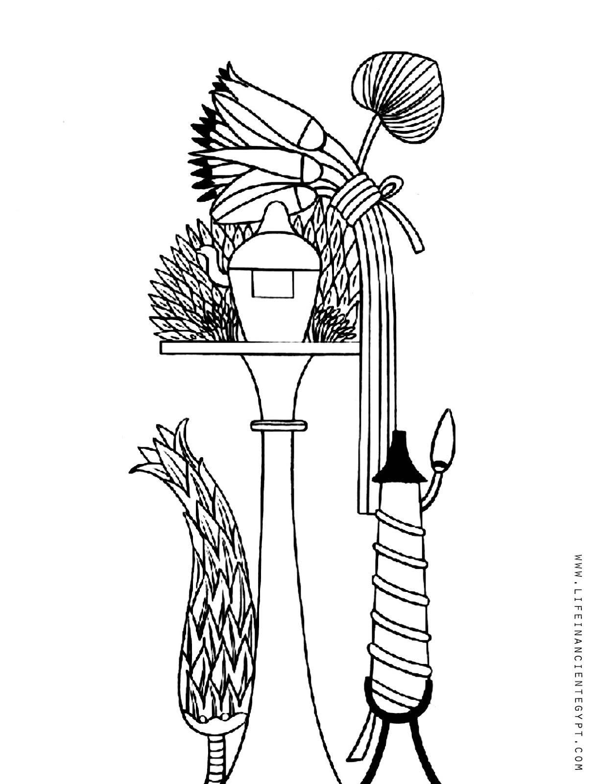 Free Printable Ancient Egyptian Adult Coloring Page From