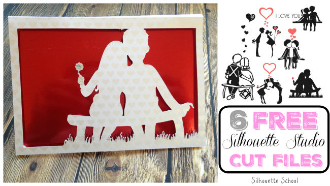 Silhouette Studio, free cut files, valentine's day