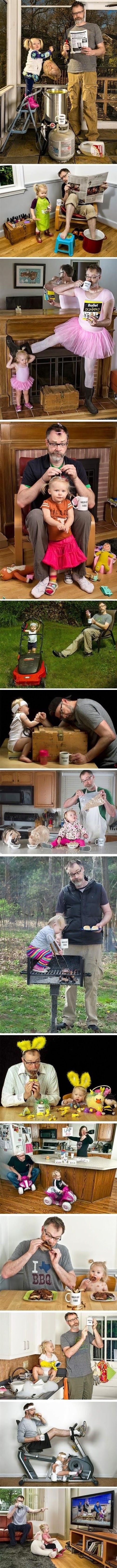 Funny world's best dad photo strip joke pictures