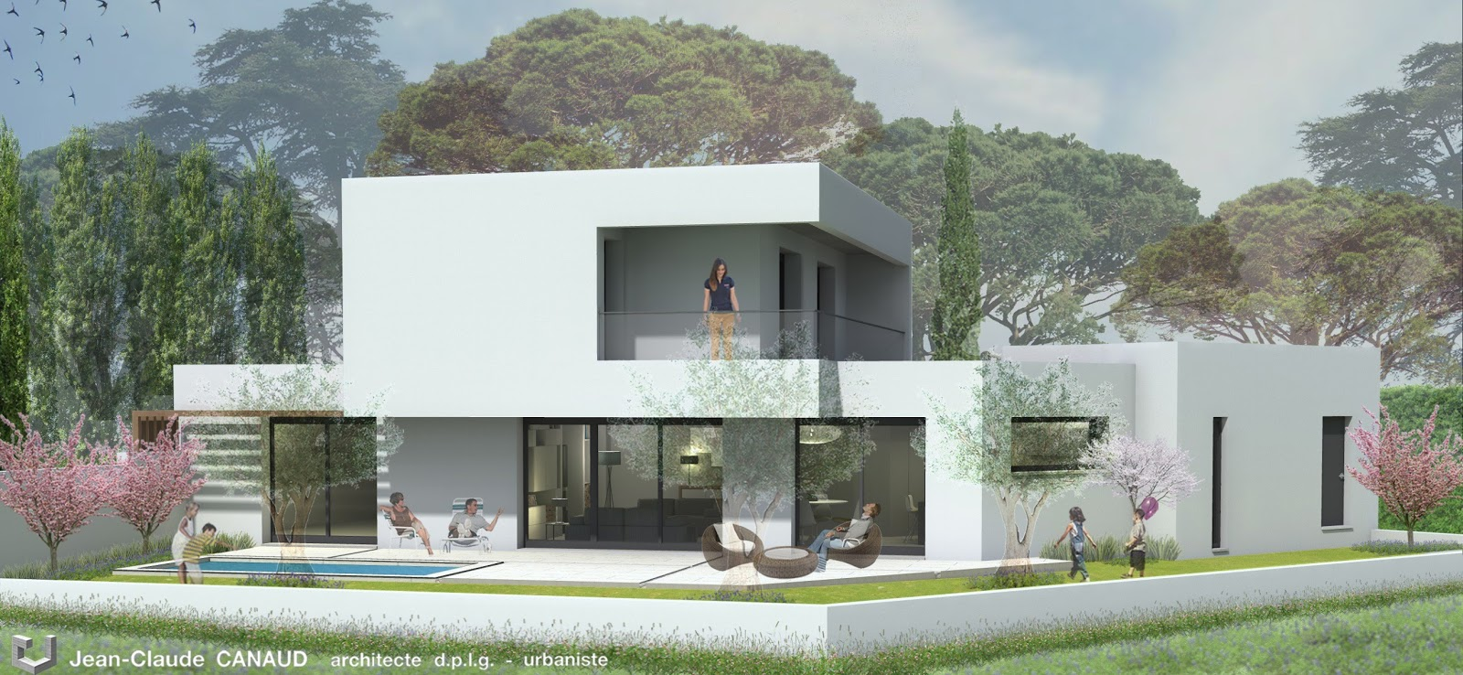 Canaud architecte projet de villa contemporaine for Architecte villa contemporaine