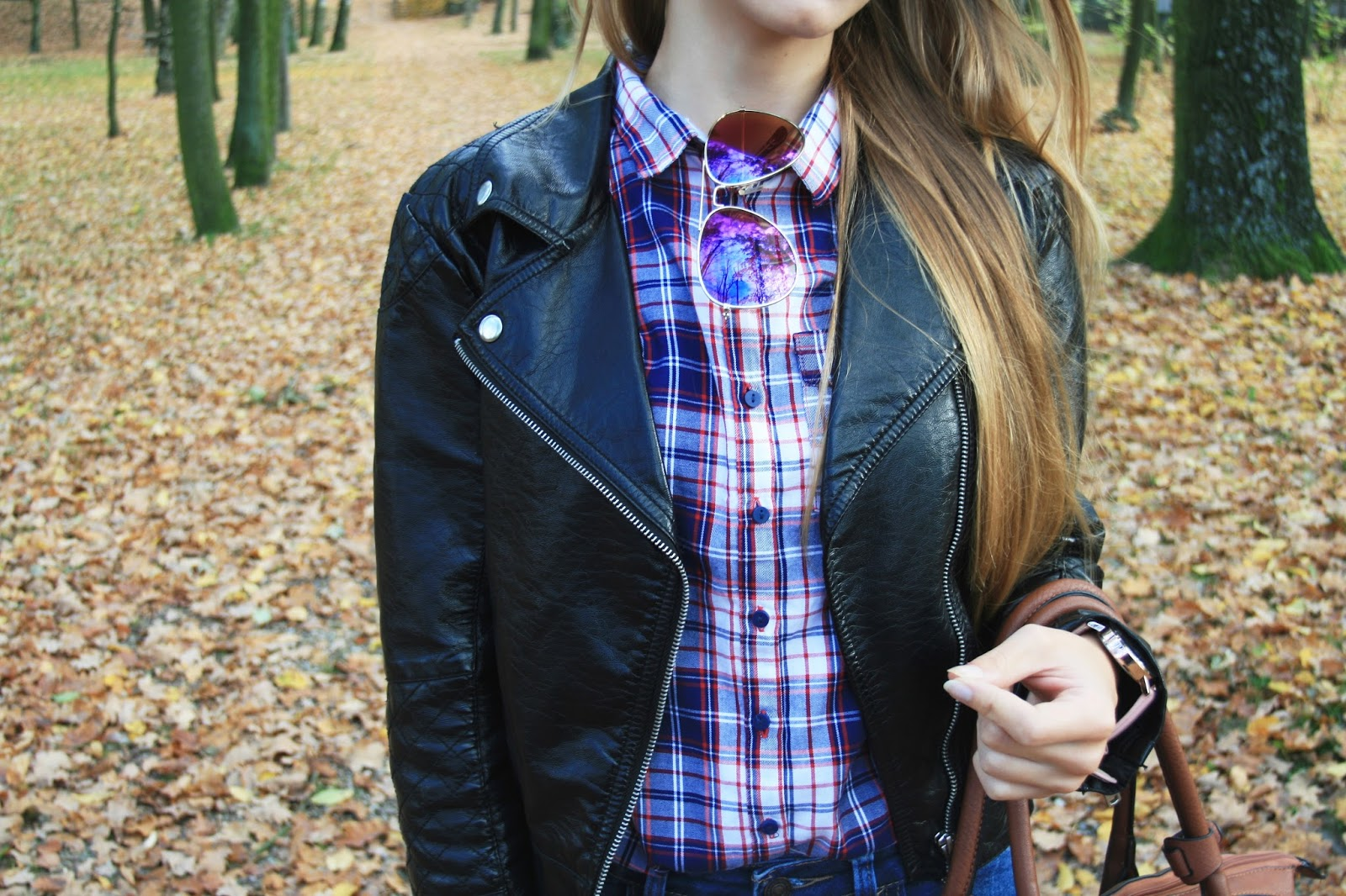 Daily outfit with checkered shirt | Jesienny strój dnia