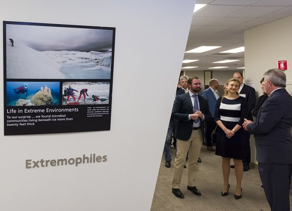 Princess Stéphanie and Prince Guillaume of Luxembourg visited NASA Frontier Development Lab / SETI Institute in Mountain View