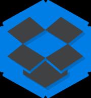 dropbox hexagon icon
