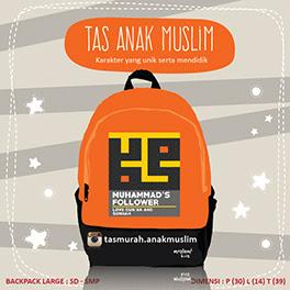 tas sekolah anak muslim Muhammad's Follower