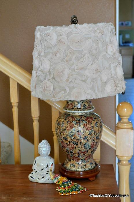 Rosette Lamp Shade - Anthropologie knock off