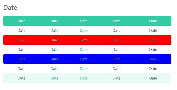 用兩行CSS設定全部奇數和偶數列表格樣式 / - LIUBB say something ...