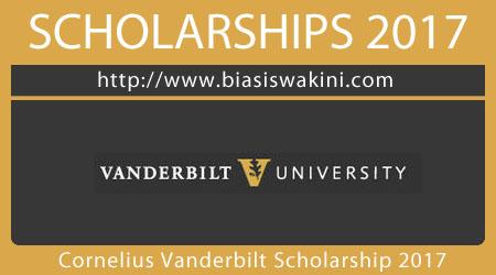 Cornelius Vanderbilt Scholarship 2017