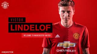 Manchester United Resmi Perkenalkan Victor Lindelof