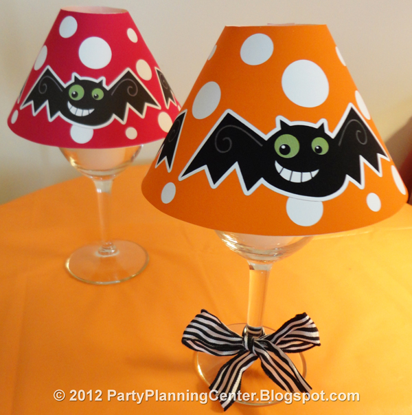 Party planning center free printable halloween wineglass lampshade please scroll down and click on the text link further down on the page to see and download the free printable halloween lampshades templates aloadofball Images