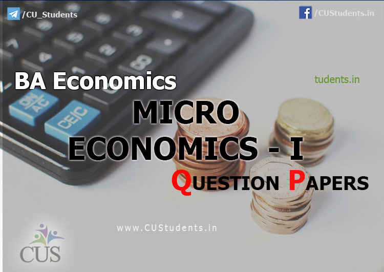 Micro Economics I previous Question Papers