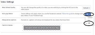 Cara Mudah Mematikan Autoplay Video Di Facebook