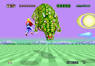 download arcade game portable Space Harrier