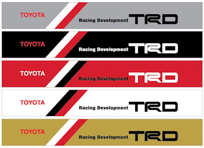 TRD Toyota Racing Development Emblem