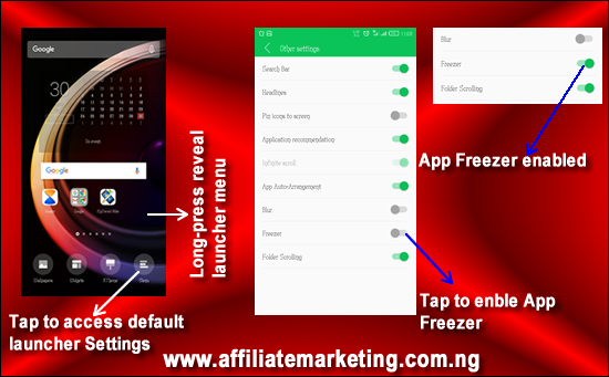 How to Enable or Unhide App Freezer on Infinix