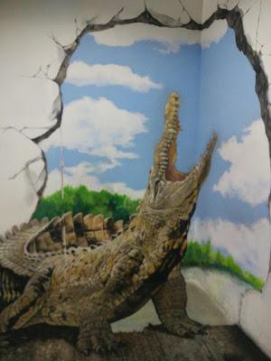 槟城时光隧道,3D壁画