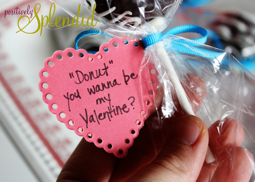 Valentine Doughnut Pops - Positively Splendid {Crafts, Sewing ...