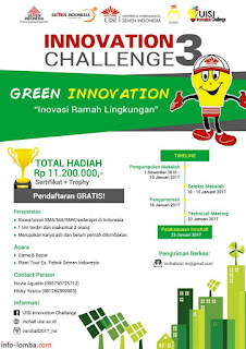 INNOVATION CHALLENGE 3, UNIVERSITAS INTERNASIONAL SEMEN INDONESIA