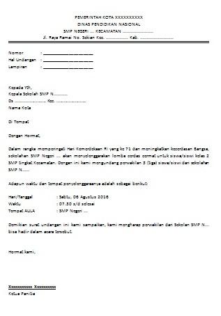 Contoh Surat Undangan Lembaga Suratmenyurat Net