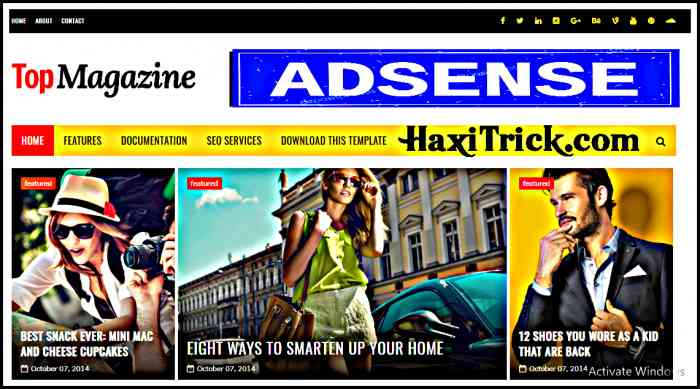 top magazine best free adsense friendly blogger template