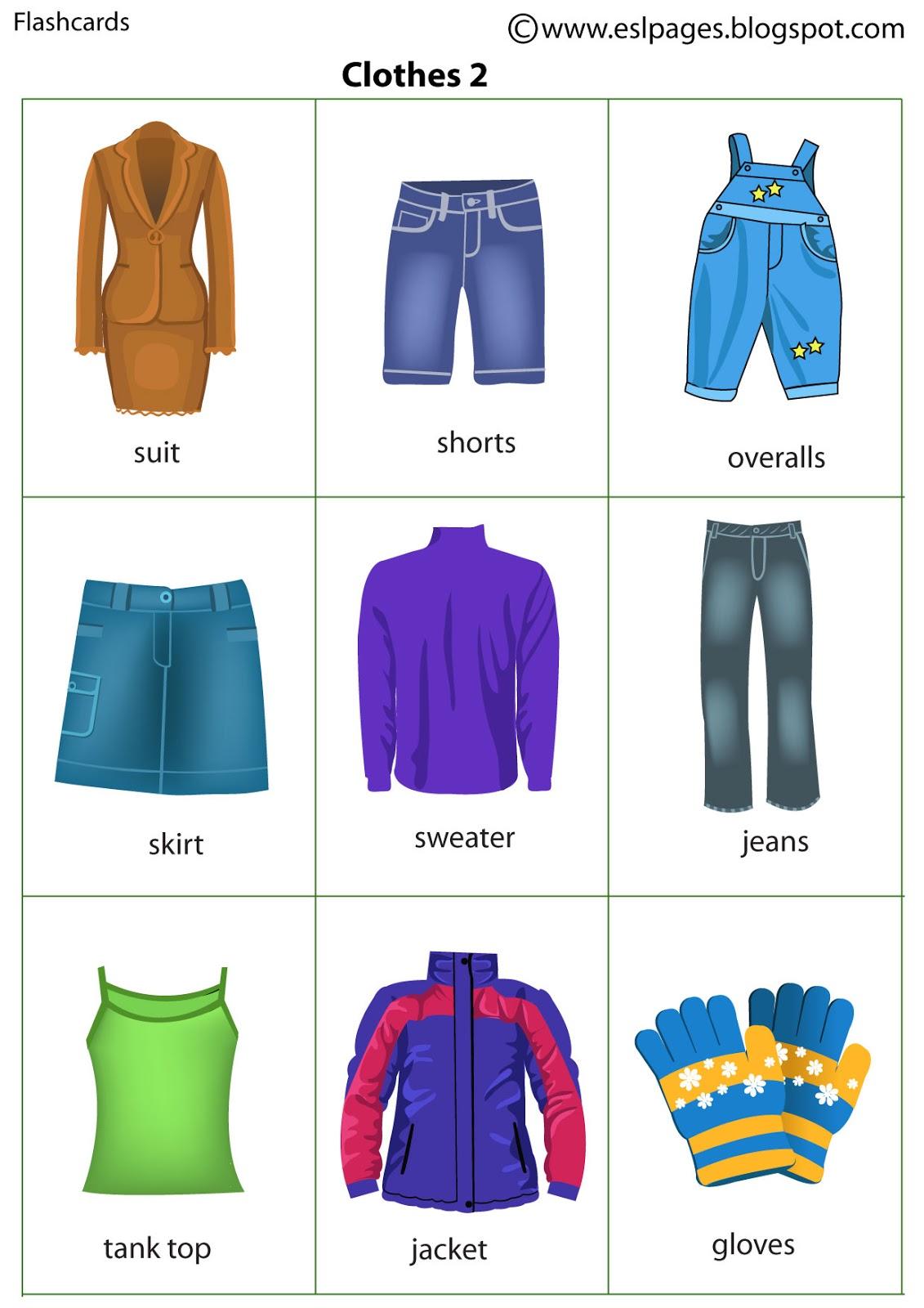 Esl Pages Clothes