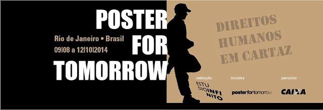 Chamada do espaço Caixa Cultural para a exposição Poster for Tomorrow.