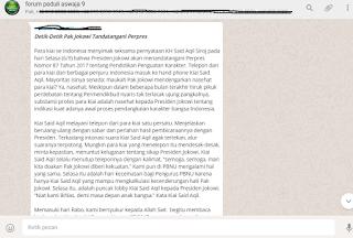 """Pesan Kronologi Dianulirnya Aturan """"FDS"""" Pak Mendikbud"""