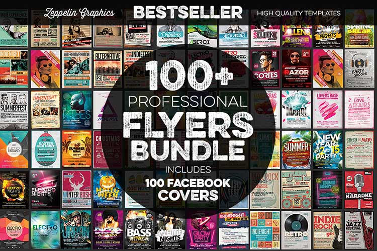 95+ Flyers Bundle + FB Covers
