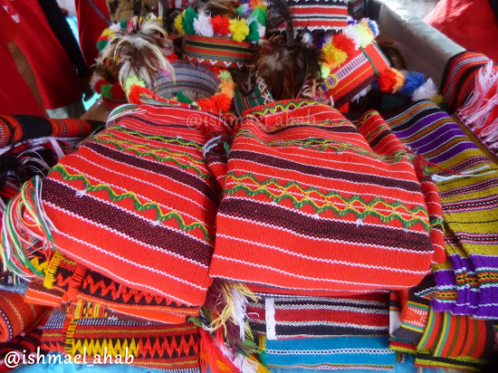 Colorful Igorot cloth in Mines View Park of Baguio City