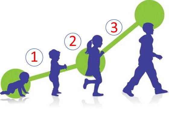 مراحل التطور الجسدي عند الأطفال