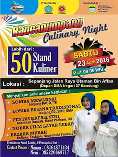 Rancanumpang Culinary Night 23 April 2016