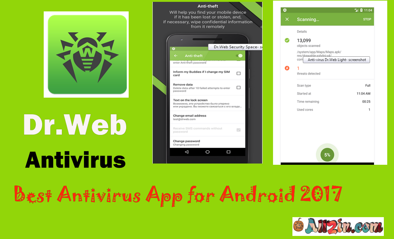 Best Free And Paid Antivirus App For Android Mobile 2017   Dr. Web Antivirus