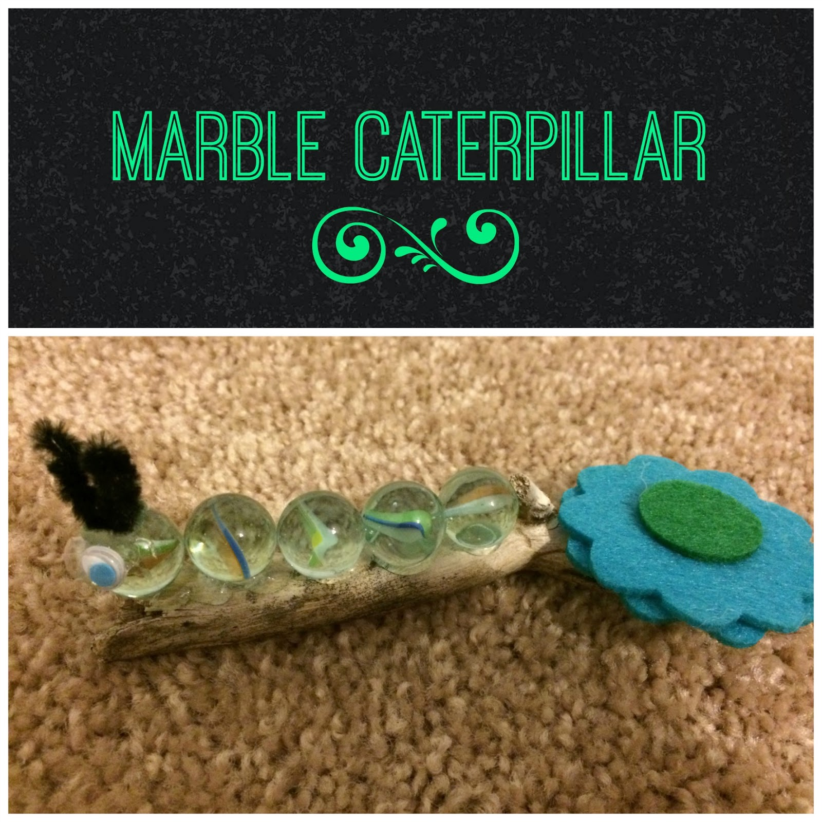 DIY Marble Caterpillar Craft for Kids