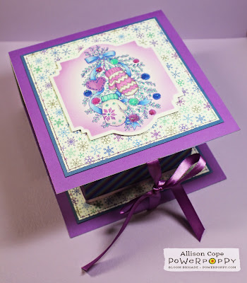 Power Poppy Fold Over Box by Allison Cope