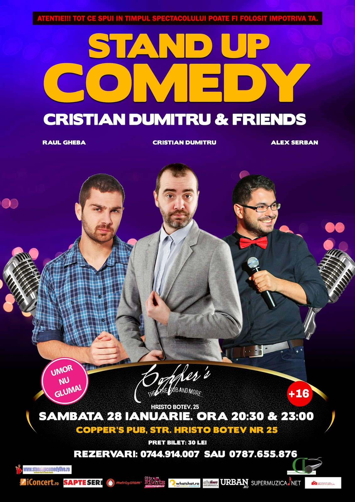Stand-Up Comedy Sambata 28 Ianuarie Bucuresti