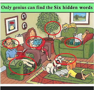 Answer of Picture Puzzle contain 6 hidden words