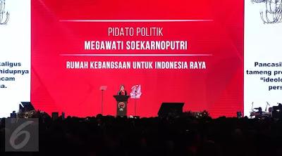 Kritik Terhadap Pidato Megawati Seokarno Putri Pada HUT PDIP KE-44