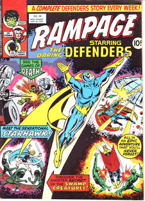 Rampage #28, The Defenders and Starhawk