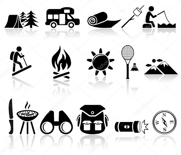 Camping Icons Set Eps  File Available  Vector By Alexynder