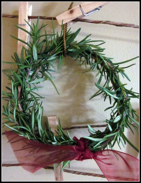 Rosemary wreaths from the garden