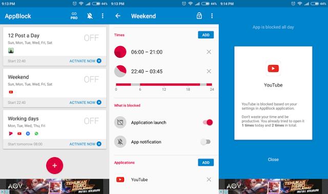 AppBlock, Pemblokir Aplikasi Untuk Meningkatkan Produktivitas