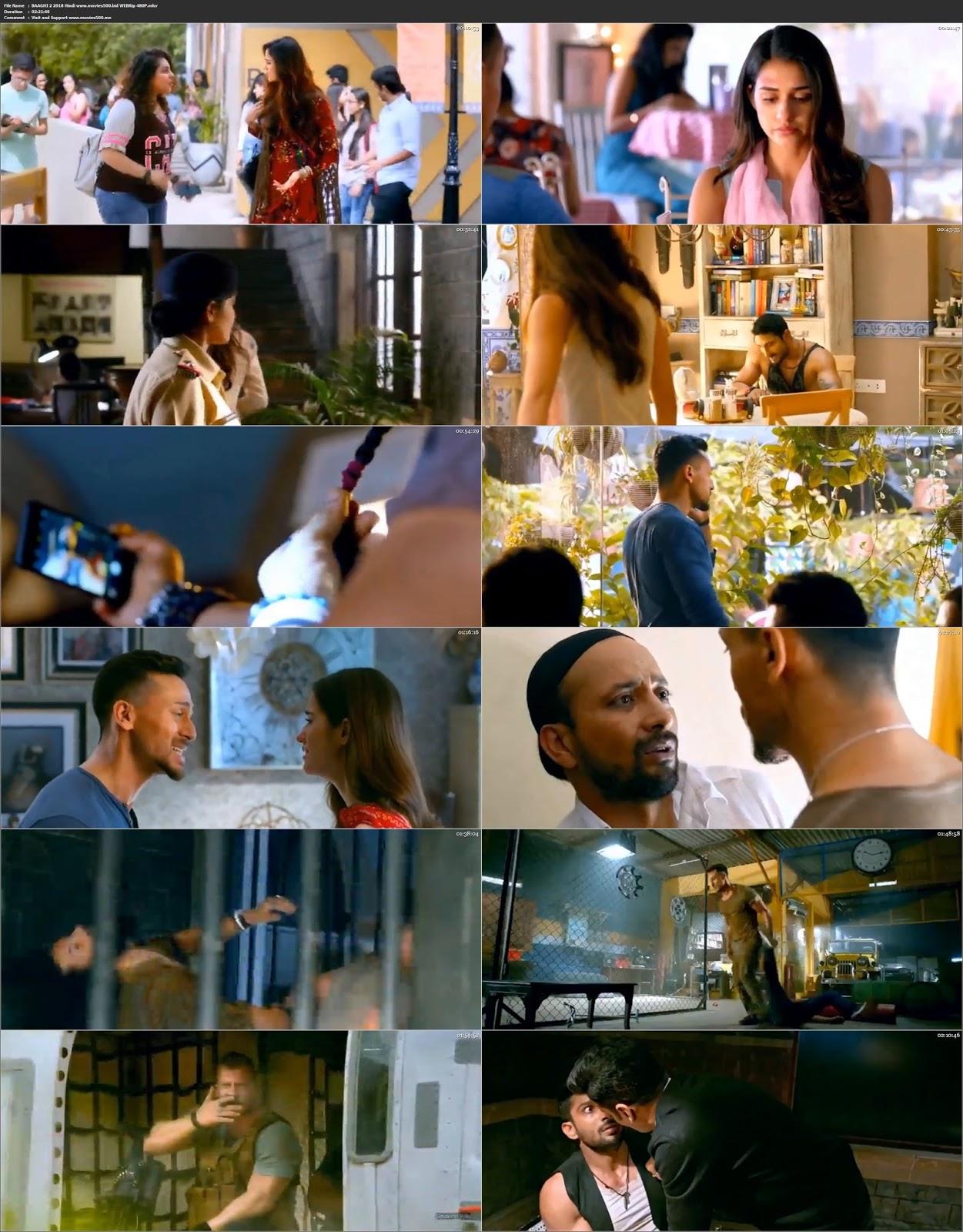 BAAGHI 2 (2018) Bollywood 300MB WEBRip 480p HD at movies500.info