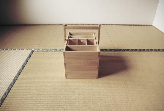 和室に置いたテンカラ道具箱