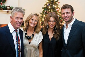 Mardy, his parents, and his wife Stacey