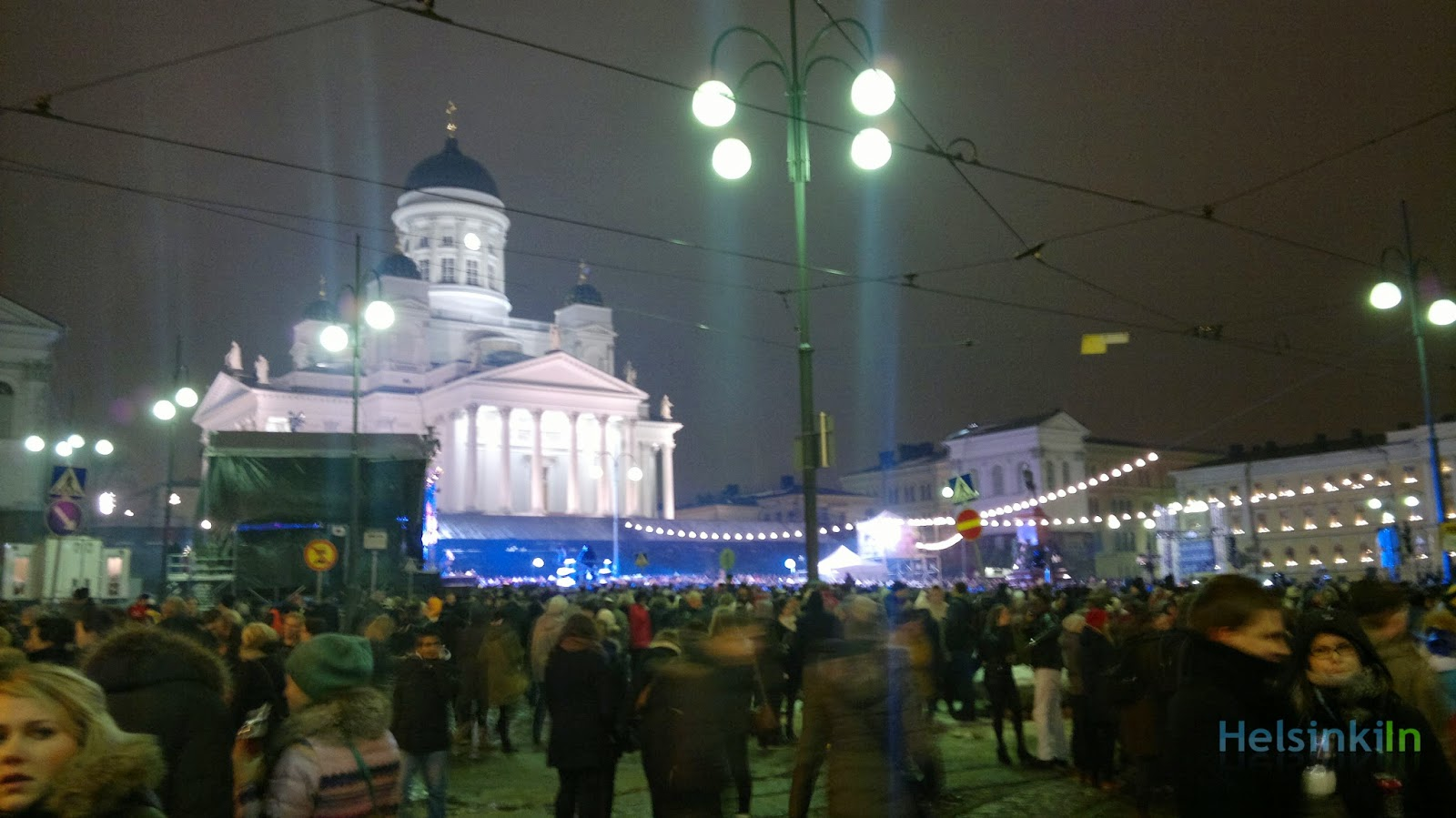 New Year's Eve celebration at the Senat Square