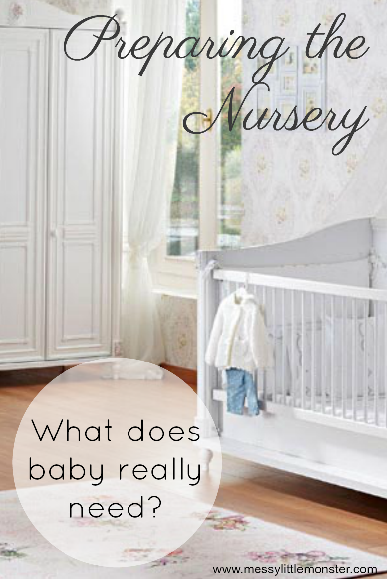 Preparing baby's nursery - what does baby really need? A list of must have essential baby items for setting up a baby room and decoration idea